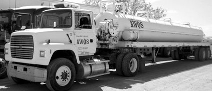 An Arizona Waste Oil Services tanker truck